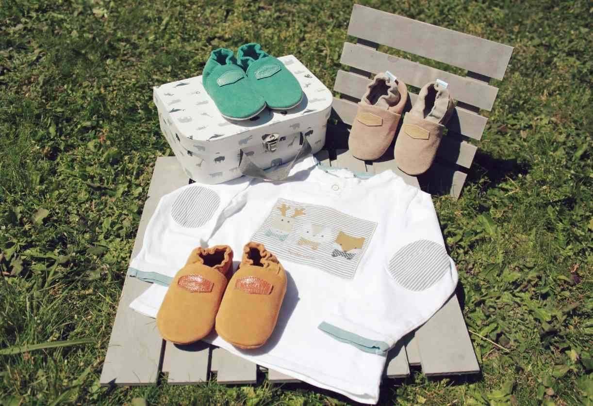 chaussons cuir souple unis kerbaby